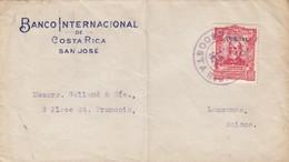 COVER COSTA-RICA. 14 JUN 1924. OFICIAL. BANCO INTERNACIONAL DE COSTA RICA SAN JOSÉ TO LAUSANNE SUISSE - Costa Rica