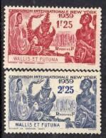 Wallis Et Futuna N° 70 / 71  X  Exposition Internationale De New York, Les 2 Valeurs Trace De Charnière Sinon TB - Neufs