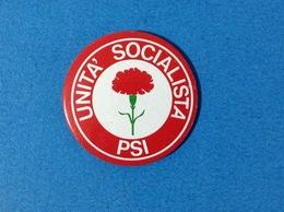 PARTITO SOCIALISTA ITALIANO PSI STEMMA GAROFANO ROSSO - VECCHIA SPILLA PINS GADGET - Associazioni