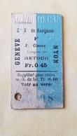 Ticket Suisse - CGN Genève-Nyon 1910 - état : Comme Sur Les Photos - Boat