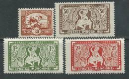"""Indochine N° 232 / 35 X  La Série Des 4 Valeurs Sans """"RF"""" Trace De  Charnière Sinon TB - Indochine (1889-1945)"""