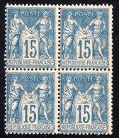 """""""Type Sage"""" N° 101 Neuf ** Gomme D'Origine Sans Charnière, Bloc De 4 à 15 % De La Cote  TTB - 1876-1898 Sage (Tipo II)"""