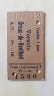 Ticket Suisse - Versoix - Creux-de-Genthod 1912 - état : Comme Sur Les Photos - Railway
