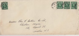 COVER GB. 16 NO 1936. UP SPECIAL TPO. 4 X 1/2p. TO LONDON - 1902-1951 (Kings)