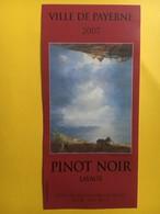 9099 - Ville De Payerne 2007 Pinot Noir Lavaux Suisse Artiste : Pietro Sarto - Art