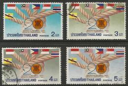 Thailand - 1987 ASEAN Anniversary Used   Sc 1179-82 - Thailand