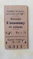 Ticket Suisse - Renens Cossonay 1911 - état : Comme Sur Les Photos - Railway