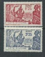 Cote D'Ivoire N°144 / 45 X  Exposition Internationale De New York, Les 2 Valeurs Trace De  Charnière Sinon TB - Ungebraucht