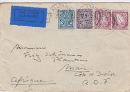 Irlande Lettre Pour La Cote D'Ivoire 1939 - 1937-1949 Éire