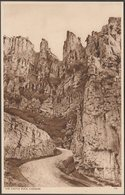 The Castle Rock, Cheddar, Somerset, C.1930s - Postcard - Cheddar