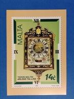 1995 MALTA POSTCARD CARTOLINA POSTALE NUOVA ANTICO OROLOGIO - Francobolli (rappresentazioni)