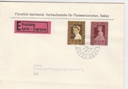 Liechtenstein Lettre Par Exprès 1955 - Liechtenstein