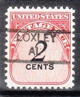 USA Precancel Vorausentwertung Preo, Locals Alabama, Loxley 835,5 - Etats-Unis
