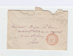 Sur Enveloppe Avec Correspondance FM  Cachet Rouge Du Corps Expéditionnaire De Madagascar Du 30 Septembre 1885. (947) - Madagascar (1889-1960)