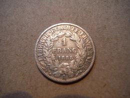 M22   1 Franc Cérès 1888A  Argent - France