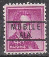 USA Precancel Vorausentwertung Preo, Locals Alabama, Mobile 818 - Vereinigte Staaten