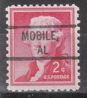 USA Precancel Vorausentwertung Preo, Locals Alabama, Mobile 828 - Vereinigte Staaten