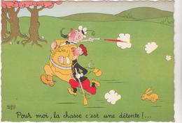 DUBOUT  Ed Du Moulin  N°35   -  Chasse -   CPSM  10,5x15 Etat LUXE 1959 Neuve - Dubout