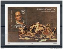 Albanie. Bloc Feuillet. Goya. Autoportrait - Albanie