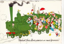 DUBOUT  Ed Du Moulin  N°30   -  Train -   CPSM  10,5x15 Etat LUXE 1959 Neuve - Dubout