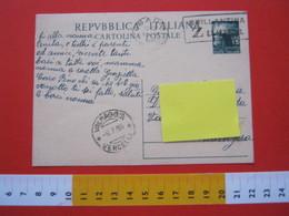 A.01 ITALIA ANNULLO TARGHETTA - 1950 BARI BRILLANTINA ZUMA IGIENE SALUTE BARBIERE PARRUCCHIERE MODA - Salute