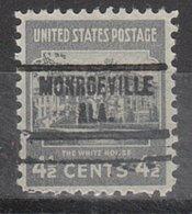 USA Precancel Vorausentwertung Preo, Locals Alabama, Monroeville 734 - Vereinigte Staaten