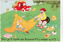 DUBOUT  Ed Du Moulin  N°32   -  Tente Camping -   CPSM  10,5x15 Etat LUXE 1959 Neuve - Dubout