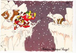 DUBOUT  Ed Du Moulin  N°17   -  Alpinisme Randonnee Ours -   CPSM  10,5x15 Etat LUXE 1958 Neuve - Dubout