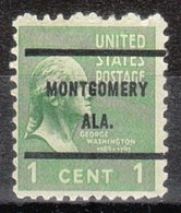 USA Precancel Vorausentwertung Preo, Bureau Alabama, Montgomery 804-61 - Vereinigte Staaten