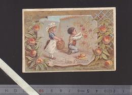 Pharmacie David, Saint Nazaire, Produits Photographie  44 - Chromo Circa1900 - Les Peches Fruit - Old Paper