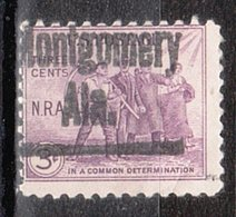 USA Precancel Vorausentwertung Preo, Locals Alabama, Montgomery 407 - Vereinigte Staaten