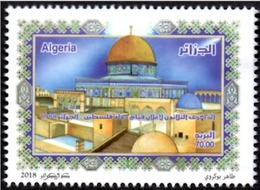 ALGERIE ALGERIA 2018 - 1v MNH** - 30th Anniv. Of The Declaration Of The Palestinian State Palestine Mosques Aqsa Flags - History