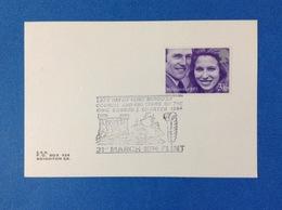1974 GRAN BRETAGNA INGHILTERRA ANNULLO SU CARTONCINO KING EDWARD I - 1952-.... (Elisabetta II)