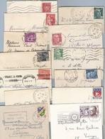 Lot De Mignonnettes Certaines Avec Correspondance (naissance Ou Deuil ) Période Varié Voir Scans - Postmark Collection (Covers)