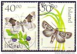 IJsland 2000 Vlinders GB-USED. - 1944-... Republique