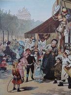 AFFICHE L ÉTÉ AUX CHAMPS ELYSÉES 1883 Par GEOFFROY 48 X 37 Cm - Affiches