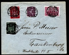 A5754) DR Infla Brief Stolpen 11.11.22 N. Frankenberg Mi.115a, 215, 216 Ua. - Briefe U. Dokumente