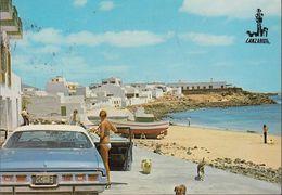 Spanien - Lanzarote -  Playa Blanca - Beach - US Car - Bikini Girl - Nice Stamp - Lanzarote