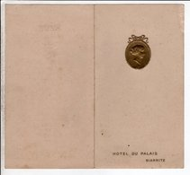 Biarritz Hotel Du Palais Menu 11 Avril 1909 - Menus