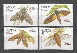 Samoa 1991  Insects Y.T. 730/733 ** - Samoa