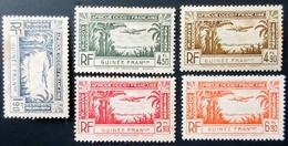 France (ex-colonies & Protectorats) > Guinée Française PA 5 Valeurs Neufs Traces De Charnières - Guinée Française (1892-1944)