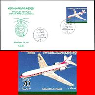 LIBYA - 1984 Caravelle Sud Aviation France ICAO Aviation (FDC) - Avions