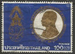 Thailand - 1987 King Bhumibol 60th Birthday 100b Used   Sc 1211 - Thailand