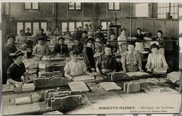 BISCUITS OLIBET Découpage Des Gaufrettes - Commerce