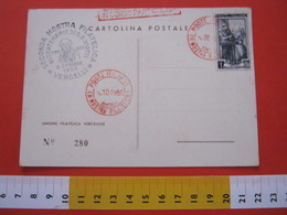 A.01 ITALIA ANNULLO - 1955 VERCELLI 2^ MOSTRA FILATELICA IN ROSSO CACHET G.B. VIOTTI VIOLINO COMPOSITORE - Musica
