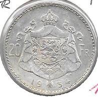 *belguim 20 Francs  1934 Dutch Pos A  Xf+/pr+ - 1909-1934: Albert I