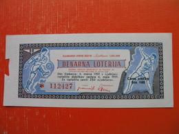 DENARNA LOTERIJA.ZELEZNICARSKO SPORTNO DRUSTVO LJUBLJANA - Billets De Loterie
