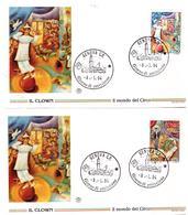 2 Fdc  Filagrano: IL CIRCO  (1994); No Viaggiate: AF_Genova - 6. 1946-.. Republic