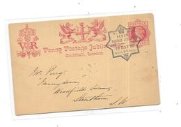 CPA Angleterre , Entier Postal Du 19 Mai 1890 - Entiers Postaux