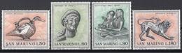 San Marino 1971 Blf. 840/843  Arte Etrusca Askos Hermes Chimera Full Set MNH - Mitologia